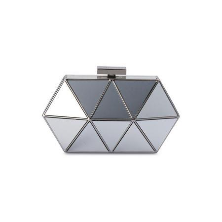 Mirror Pod Clutch Silver-Tone