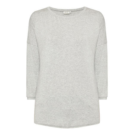 Dolores Mid-Length Sleeve Top Grey