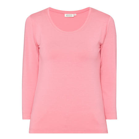 Dolores Mid-Length Sleeve Top Pink