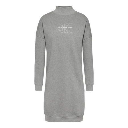 Denver Logo Sweater Dress Grey