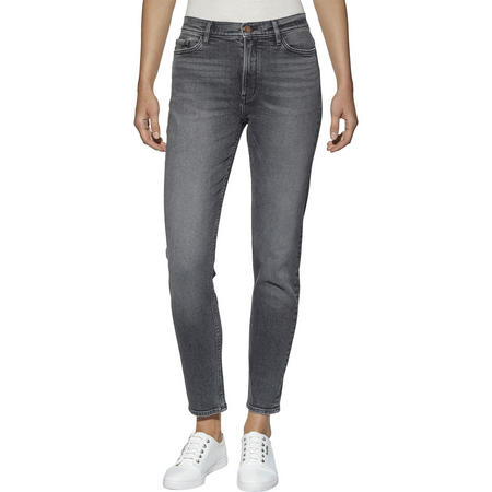 High Rise Slim Jeans Grey