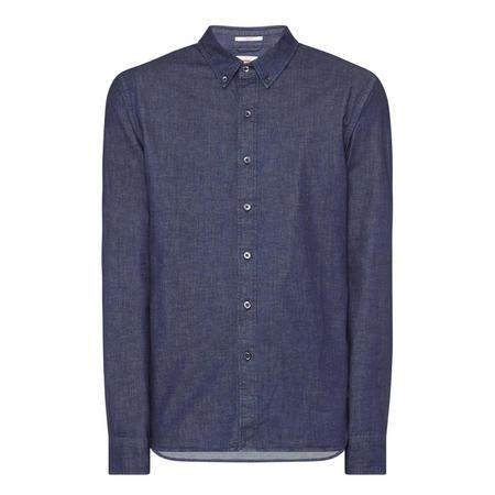Pacific No Pocket Denim Shirt Blue