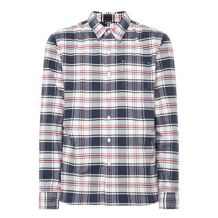 Check Print Pocket Shirt Multi