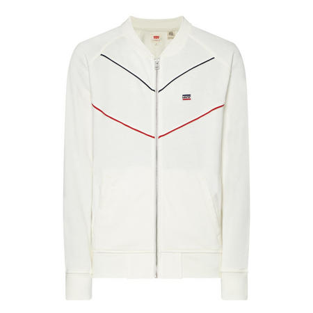 Bomber Collar Track Top Cream