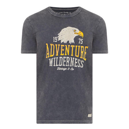 Adventure Wilderness Eagle T-Shirt Black
