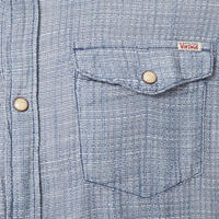 Bray Western Check Shirt Blue