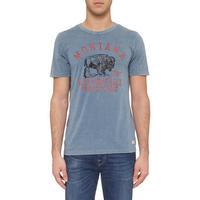 Mark Flecked T-Shirt Blue