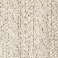 Branch Cable Knit Sweater Beige