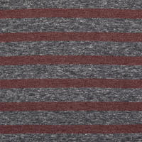 Striped Breast Pockets T-Shirt Red