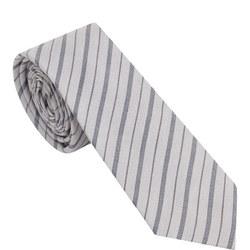 Striped Tie Grey