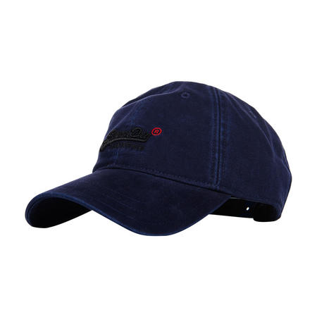 Embroidered Logo Baseball Cap Blue Blue