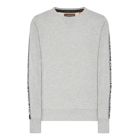 Orange Label Stripe Cuff Sweatshirt Grey