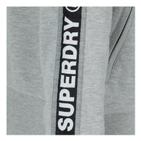 Logo Sleeve Zip Front Hoody Grey