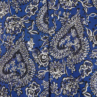 Printed Silk Shirt Blue