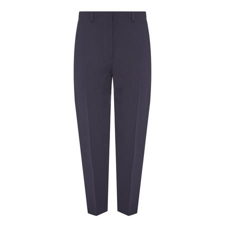 Cropped Trousers Navy