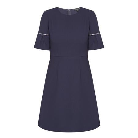 Flared Sleeve Dress Navy