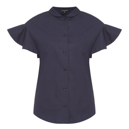 Poplin Blouse Midnight Blue