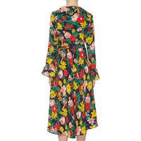 Floral Print Wrap Dress Multicolour