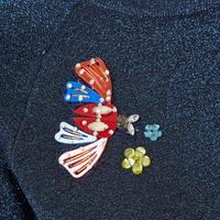 Sequin Lurex Sweater Navy