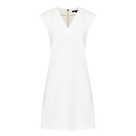 V-Neck Pencil Dress White