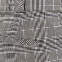 Prince Of Wales Check Trousers Grey