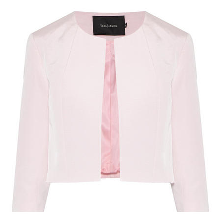 Cropped Textured Jacket Pink