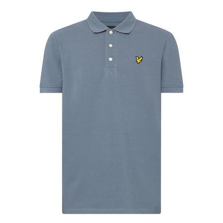 Logo Short Sleeve Polo Shirt Blue