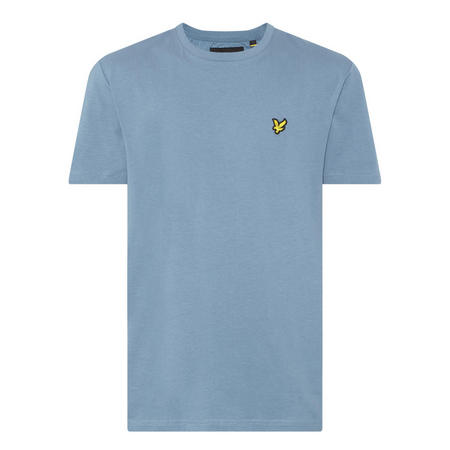 Basic Crew Neck T-Shirt Blue