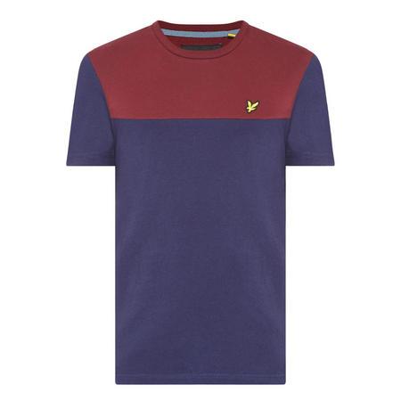 Colour-Block T-Shirt Navy