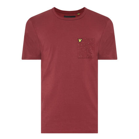 Flecked Pocket T-Shirt Red