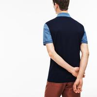 Slim Fit Colour Block Polo Shirt Blue