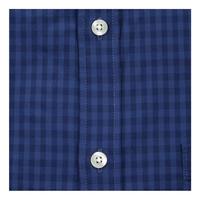 Mini Check Cotton Poplin Shirt Navy