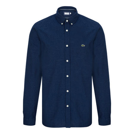 Polka Dot Jacquard Shirt Navy