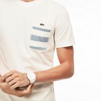 Striped Pocket T-Shirt White