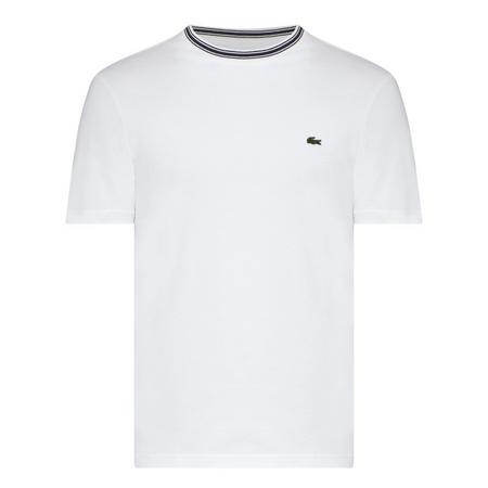 Striped Trim T-Shirt White