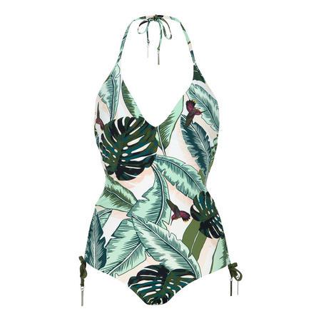 Palm Beach V-Neck Swimsuit Green