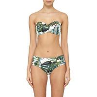 Palm Bandeau Bikini Top Green