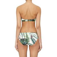 Palm Ruched Bikini Bottoms Green