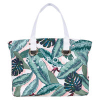 Palm Beach Eyelet Tote Bag Green