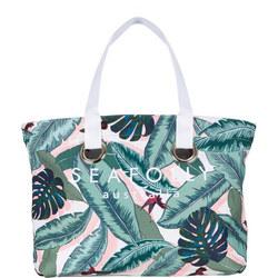 Palm Beach Eyelet Tote Bag Green