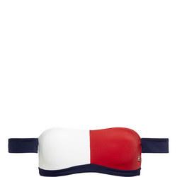 Colour Block Bandeau Bikini Top Multicolour