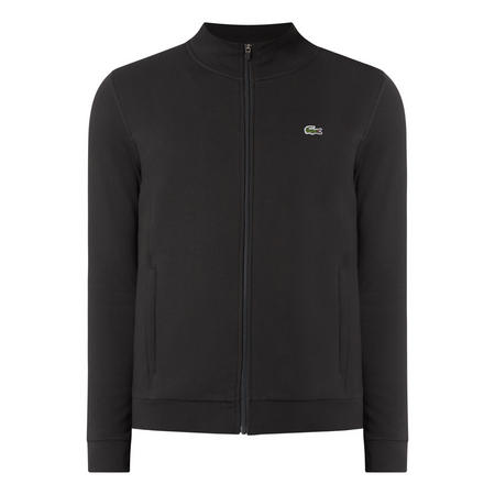 Funnel Neck Zip Sweat Top Black