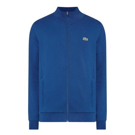 Funnel Neck Zip Sweat Top Blue