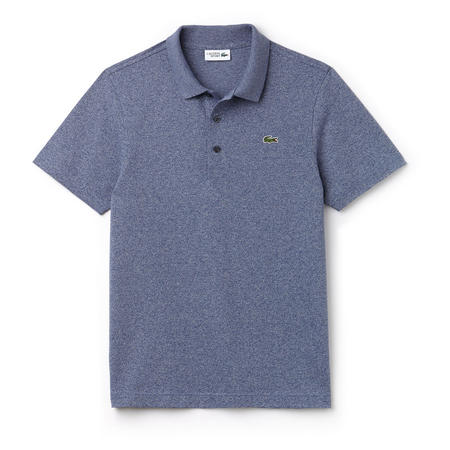 Ultra-Lightweight Knit Polo Shirt Blue
