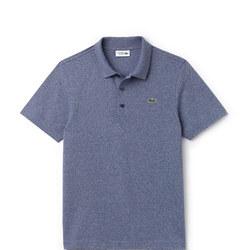 Ultra-Lightweight Knit Polo Shirt Blue
