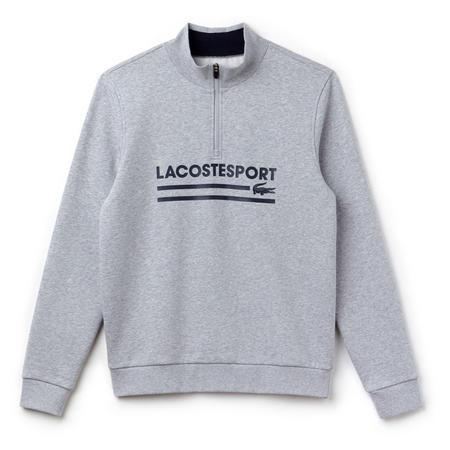 Logo Half-Zip Sweatshirt Grey