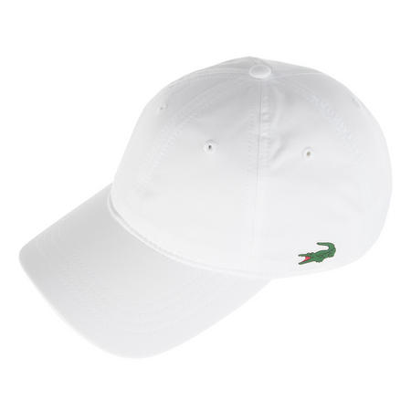 Diamond Weave Taffeta Baseball Cap White