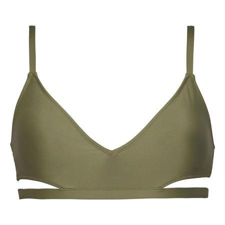 Cut Out Triangle Bralette Bikini Top Green