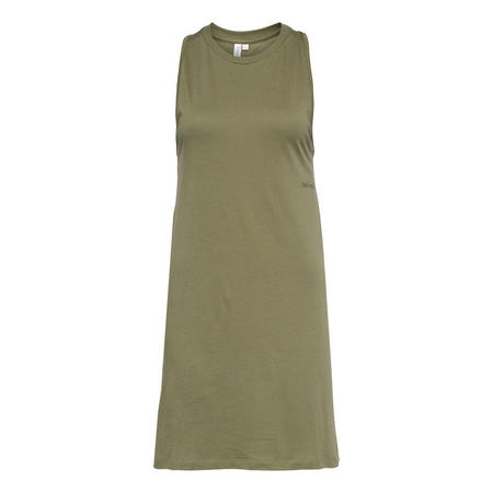 Sleeveless Tank Dress Green