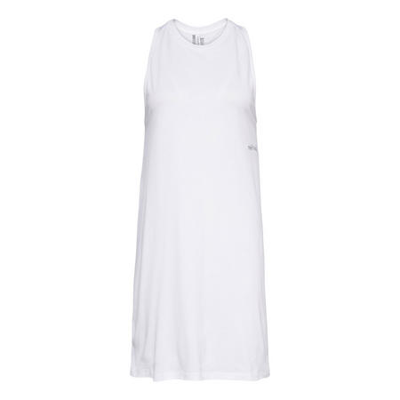 Sleeveless Tank Dress White